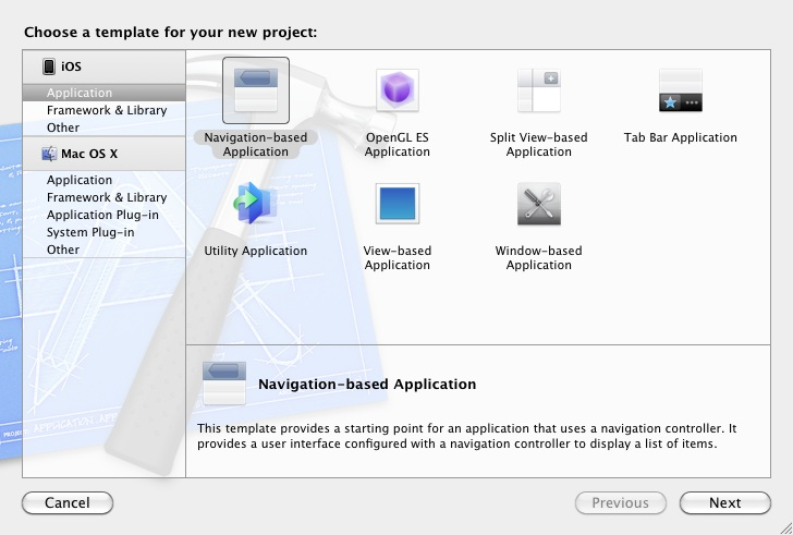 Creating a new Xcode 4 iPad project