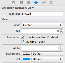 Specifying a reuse identifier for an iOS 7 CollectionView cell