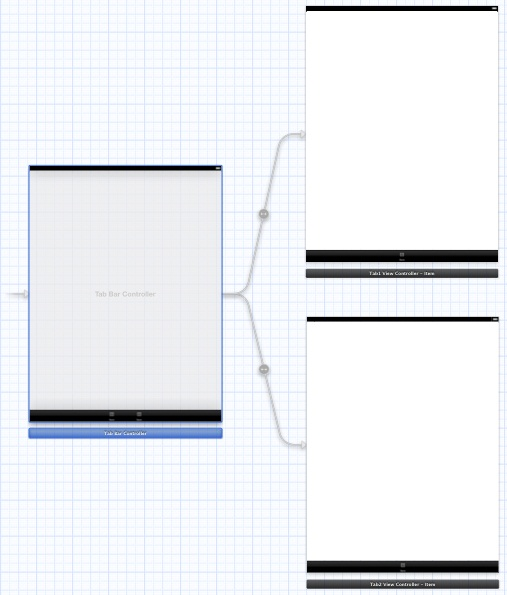 iPad iOS 5 tab bar storyboard layout