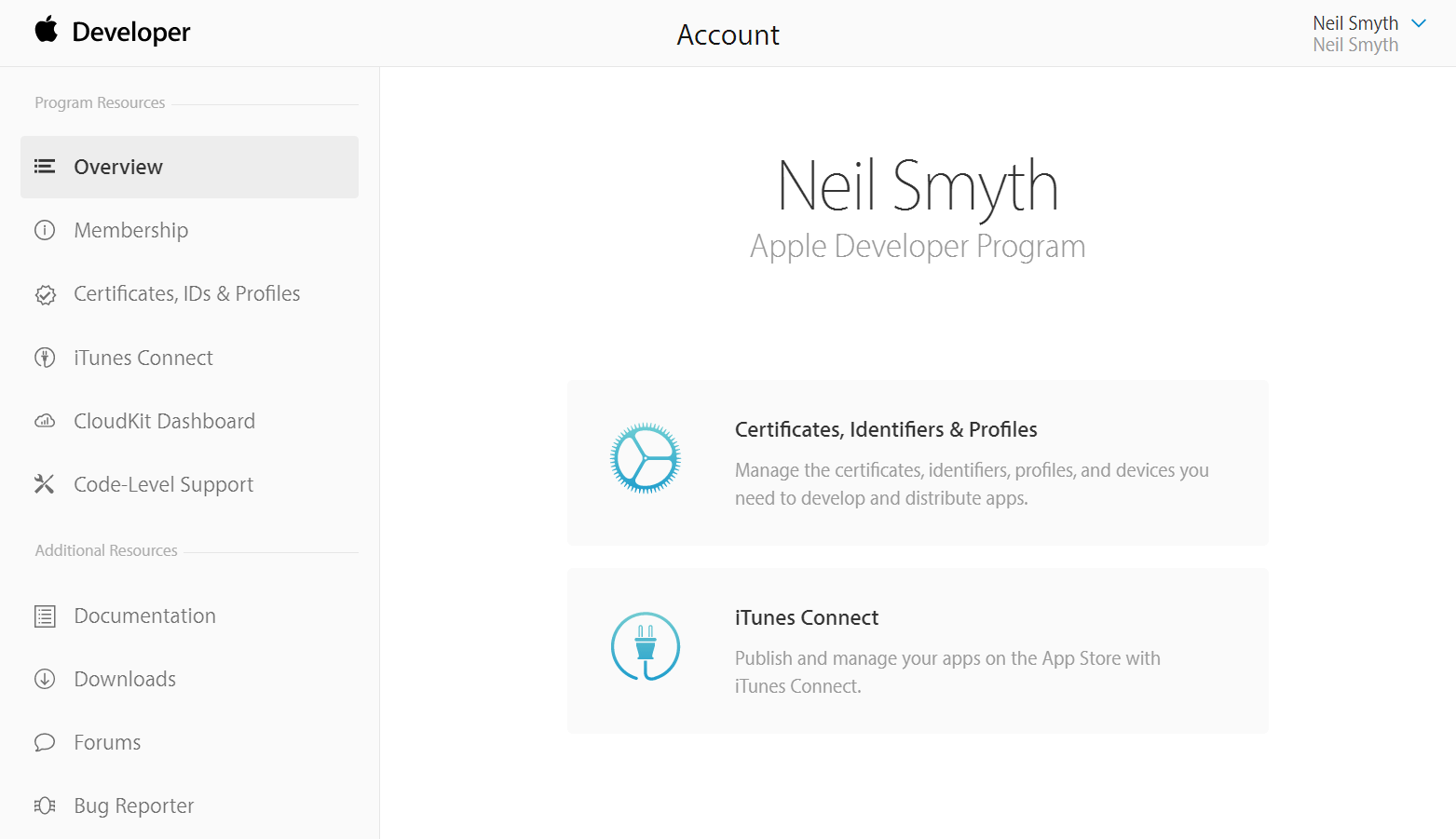 The Apple Developer Member Center