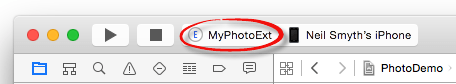 Xcode 6 select photo extension scheme.png