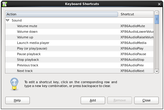 Configuring CentOS 6 Desktop Keyboard Shortcuts - Techotopia