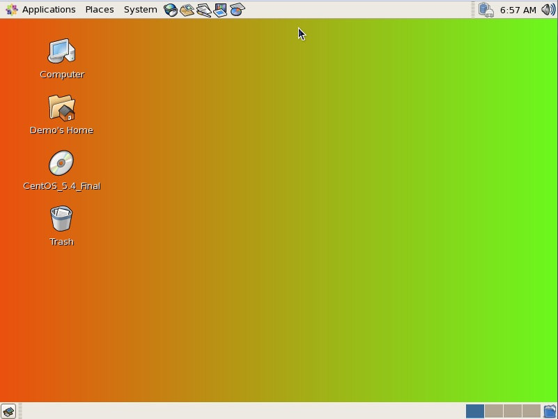 The CentOS background with a gradient configured