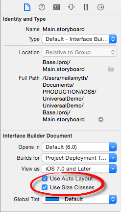Using Size Classes to Design Universal iOS User Interfaces