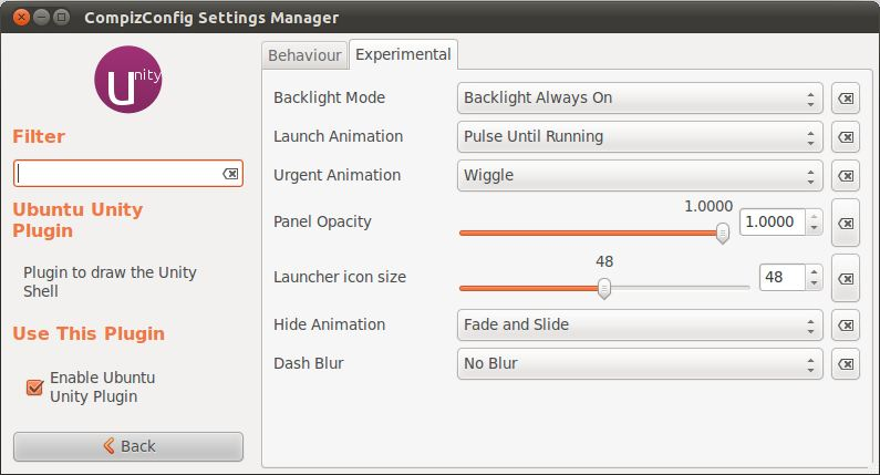 Changing the appearance of the Ubuntu 11.04 Unity launcher