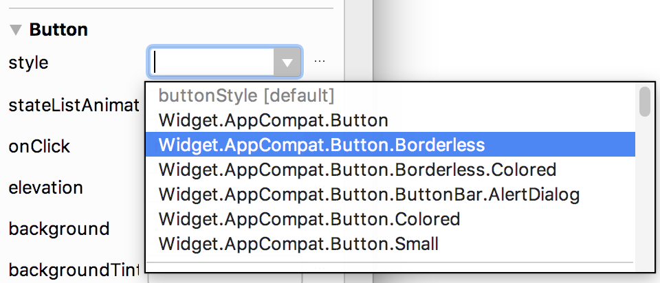 The Frameless Button option