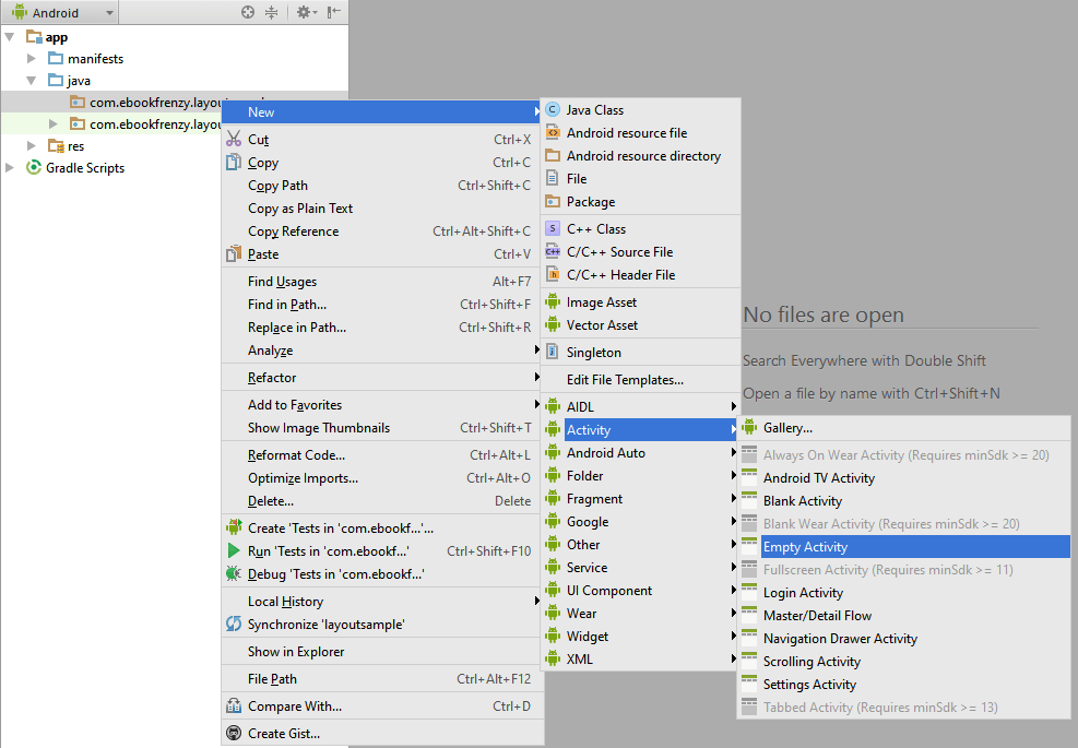 Designing a User Interface using the Android Studio Designer
