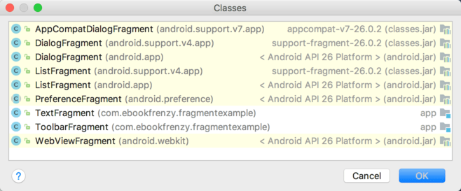 Using Fragments in Android Studio - A Kotlin Example - Techotopia