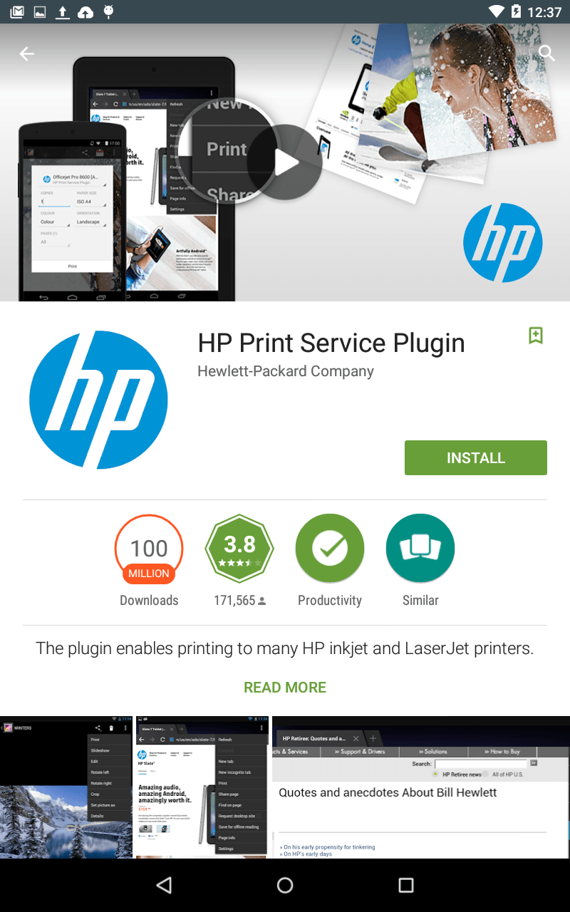 Installing The Android Hp Print Services Plugin