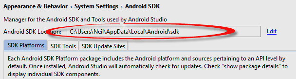 Setting up an Android Studio Development Environment