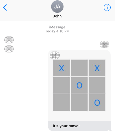 iOS iMessage App Extension using a session
