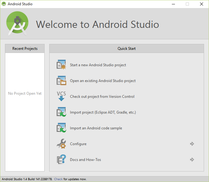 Android studio welcome screen sample 6.0.PNG