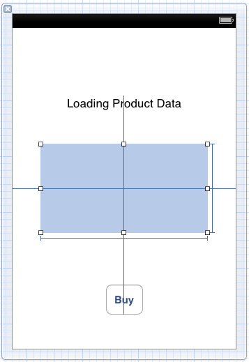 The user interface for the in-app purchase buy view