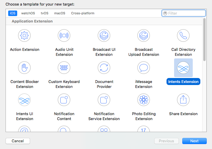 Xcode 8 add intents extension.png