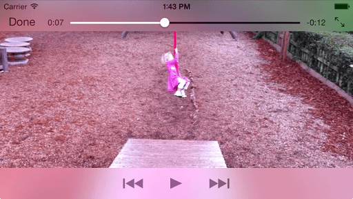 The iOS 7 Example Video App Running