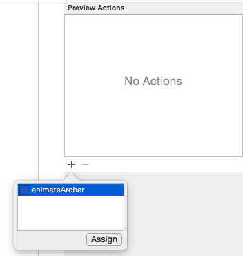 Xcode 7 select action For testing.png