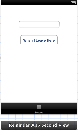 The user interface for a location based reminder example