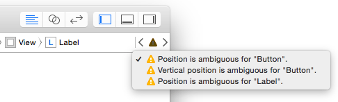 Xcode layout warnings