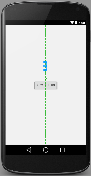 An example Android Studio Designer user interface layout