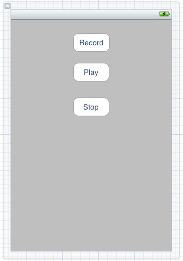 The user interface for an iPhone iOS 5 audio recording application