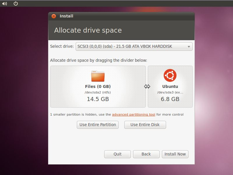 Allocating space from Windows partition to Ubuntu 10.10