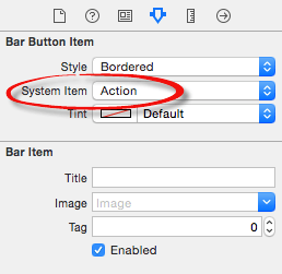Xcode 7 button item action.png
