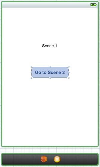 The layout of scene 1 of the storyboard