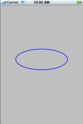 An ellipse drawn using iOS 4 Quartz 2D
