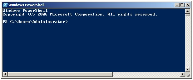 The Windows PowerShell Prompt