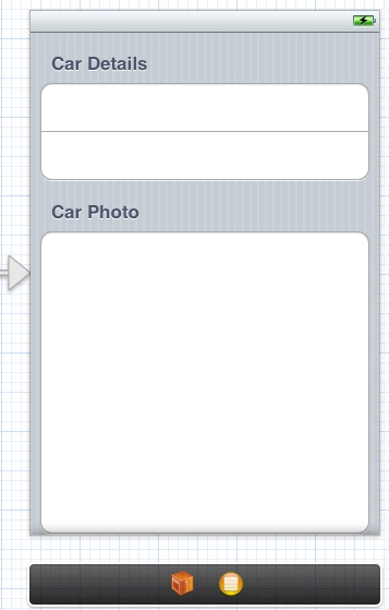 An iOS 6 static table view in an Xcode storyboard scene