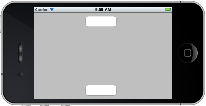 iPhone iOS 4 app buttons laid out correctly after using Autosizing