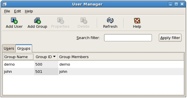 Managing Groups on a CentOS system