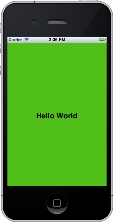 Sample application running in iOS 5 iPhone simulator