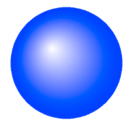 A glossy reflective sphere drawn with core graphics