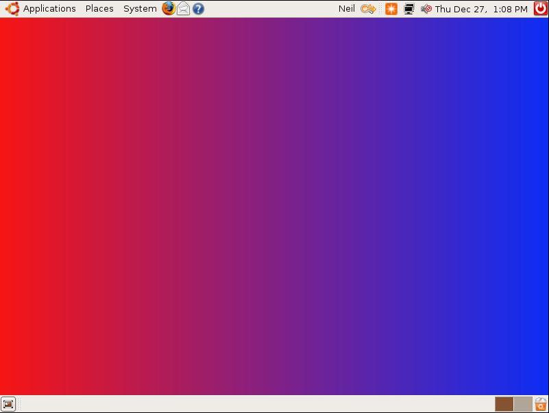 Ubuntu Desktop With Gradient Background Image