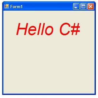 Drawing Text with C#