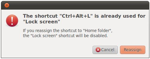 Attempting to define an invalid keyboard shortcut