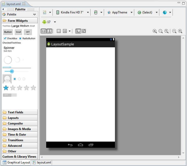 The Android Graphical Layout Tool