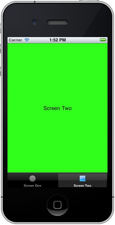 Iphone ios 5 tab bar storyboard example running.jpg