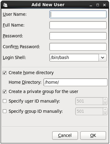 Adding a new user to an RHEL 6 system