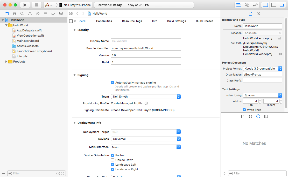 A Guided Tour of Xcode 8