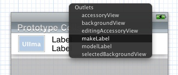 Connecting Xcode Storyboard object to outlets