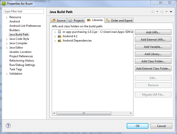 Configuring the Eclipse Java Build Path