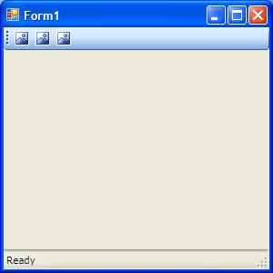 Visual Basic Application with Status Bar
