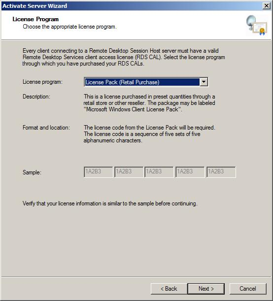 Configuring a Windows Server 2008 R2 Remote Desktop Services License