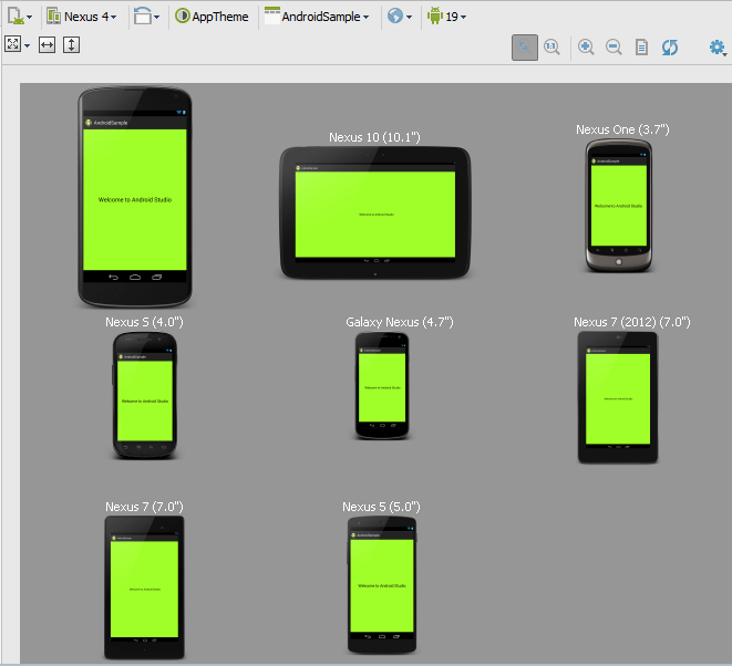 Android Studio Preview All Devices