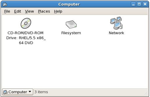 The Computer file manager window