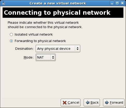Configuring Xen virtual networking forwarding
