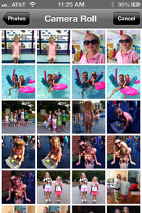 The iPhone iOS 6 Camera Roll view