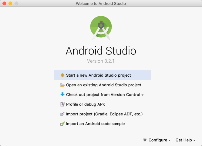 Android studio 3.2.1 welcome.png